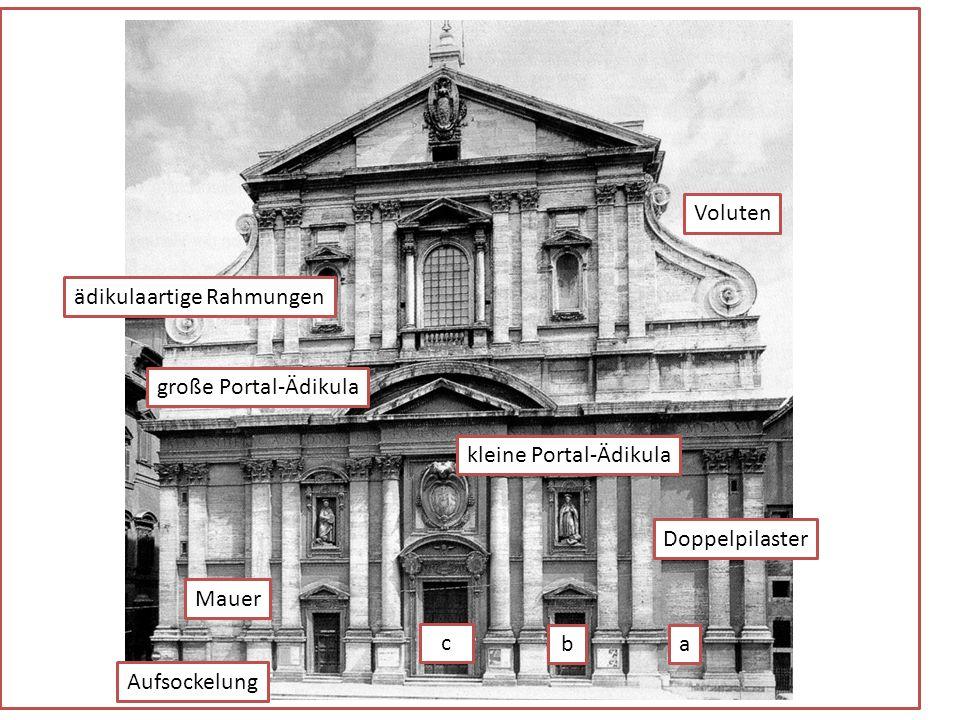 Die ausgeführte Fassade Noch während der Bauarbeiten wurde das Fassadenprojekt Vignolas scharf kritisiert, was dazu führte, dass sich die Verantwortli