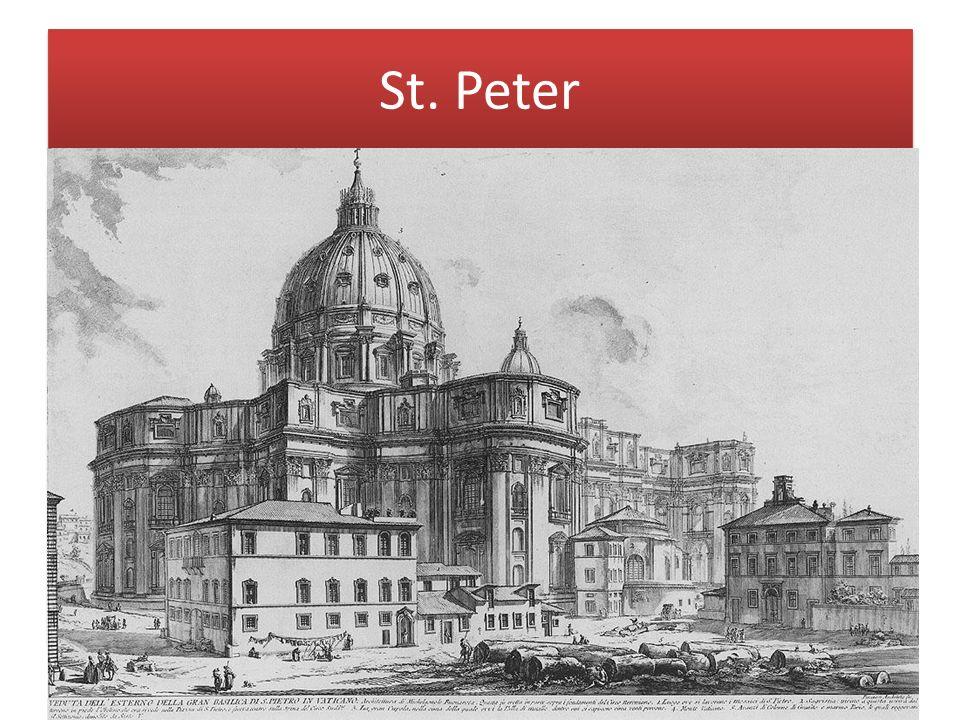 St. Peter Der Neubau von St. Peter in Rom war eine der ranghöchsten und aufwendigsten Bauaufgaben, die in Renaissance und Barock je zu vergeben waren.