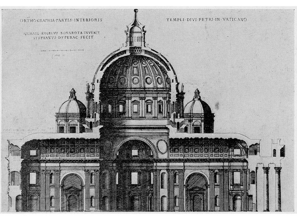 Die Beteiligten Das Projekt beschäftigte in den 161 Jahren vom Baubeginn unter Julius II. im Jahr 1506 bis zur Vollendung des Vorplatzes unter Alexand
