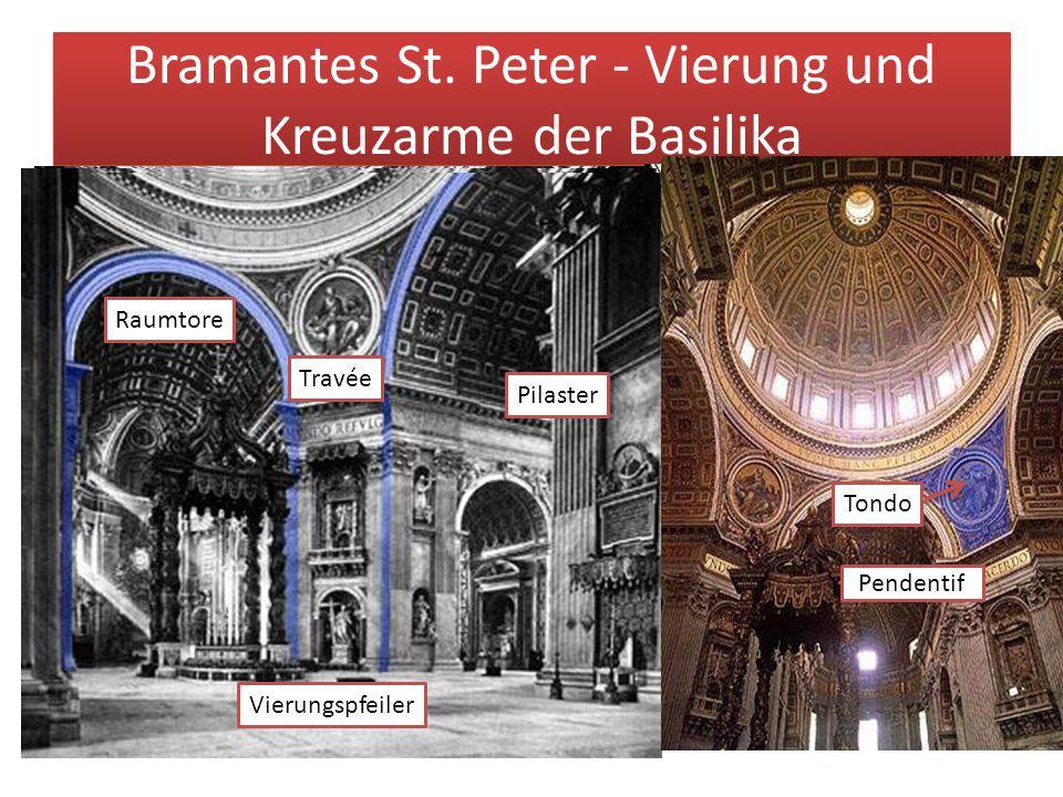 Bramantes St. Peter - Vierung und Kreuzarme der Basilika Pendentif Tondo Travée Pilaster Raumtore Vierungspfeiler