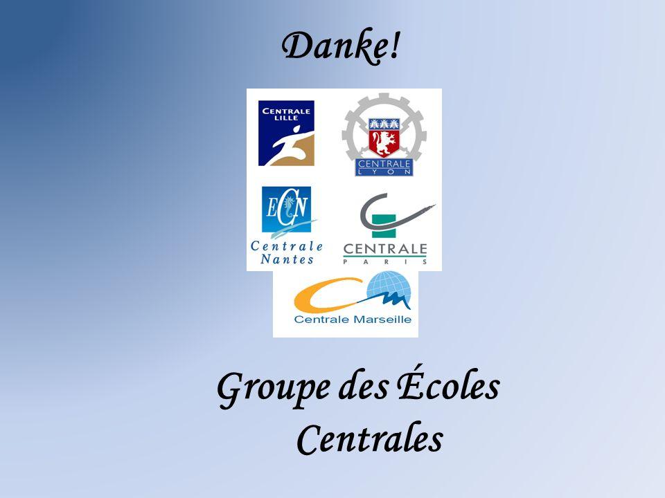 Danke! Groupe des Écoles Centrales