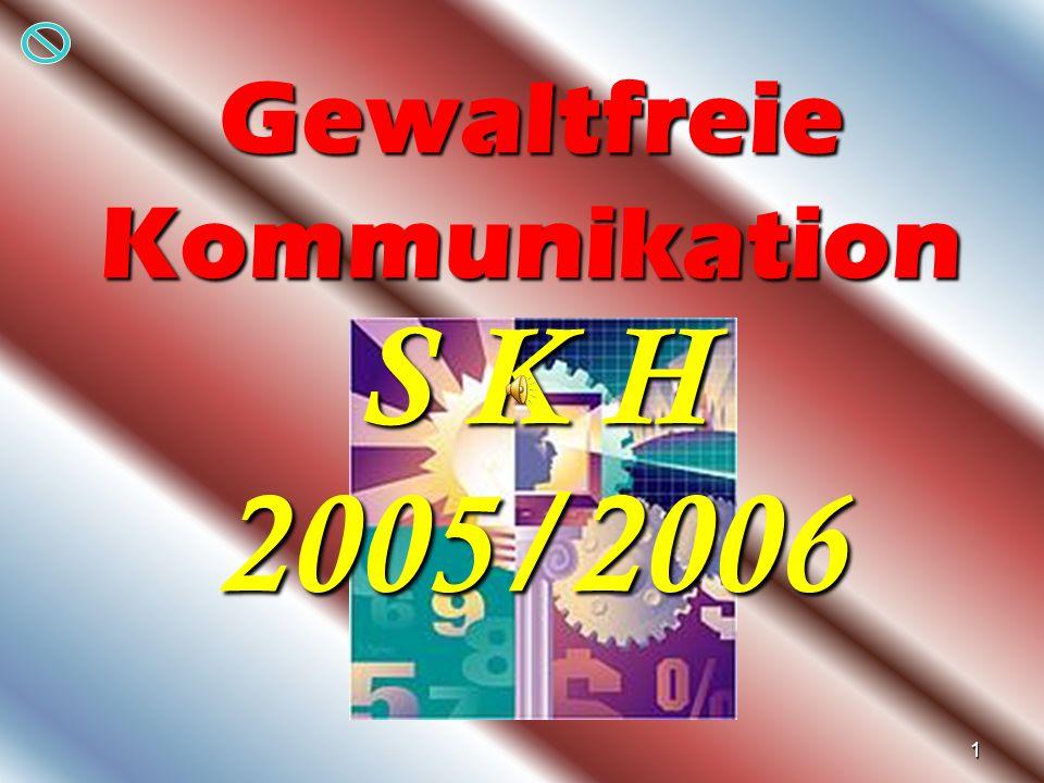 1 Gewaltfreie Kommunikation S K H 2005/2006