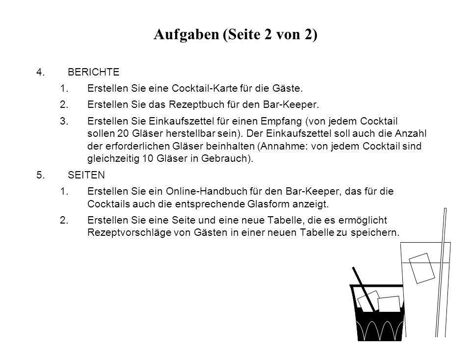 Abfrage Einkaufsliste_Glaeser: Datenblattansicht