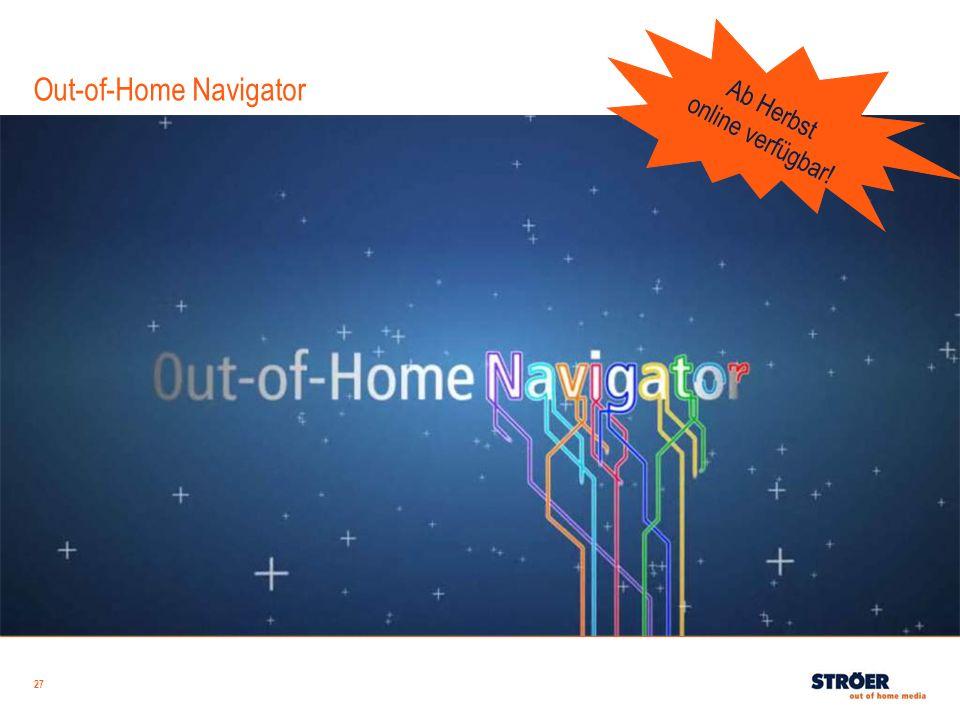 27 Out-of-Home Navigator Ab Herbst online verfügbar!