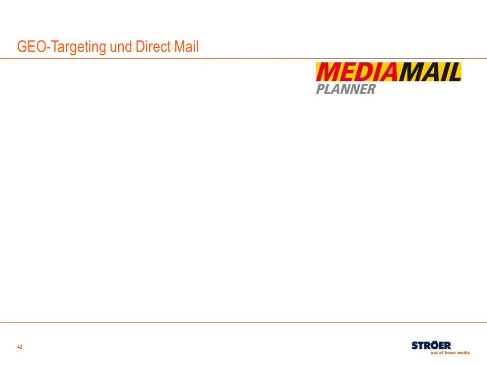 42 GEO-Targeting und Direct Mail 42
