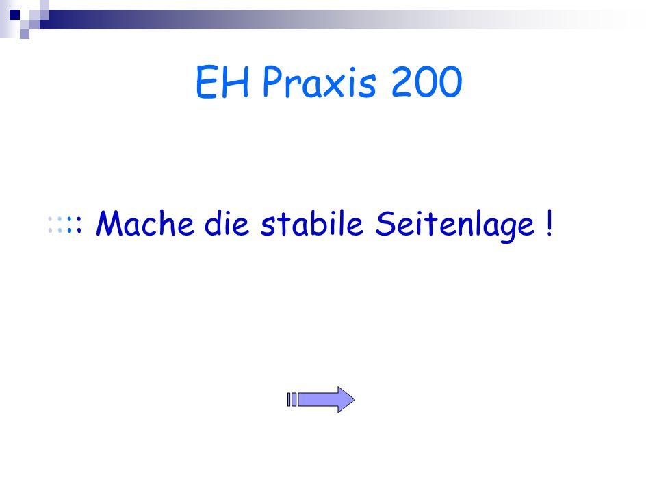 EH Praxis 200 :::: Mache die stabile Seitenlage !
