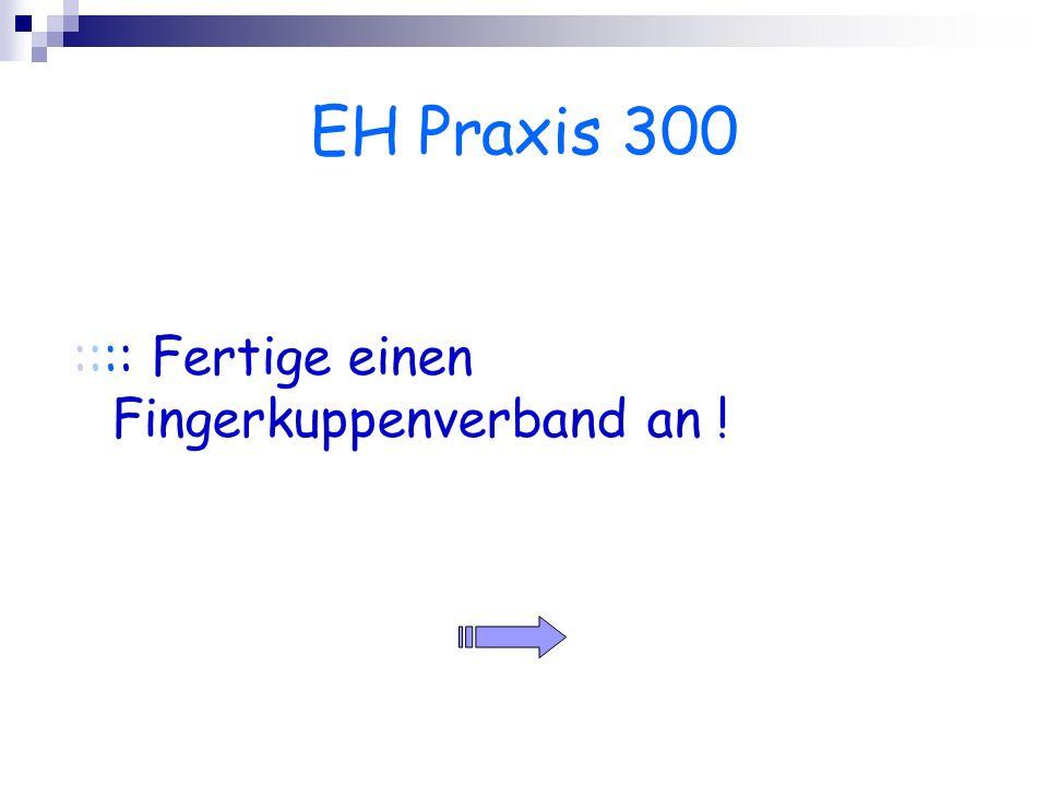 EH Praxis 300 :::: Fertige einen Fingerkuppenverband an !