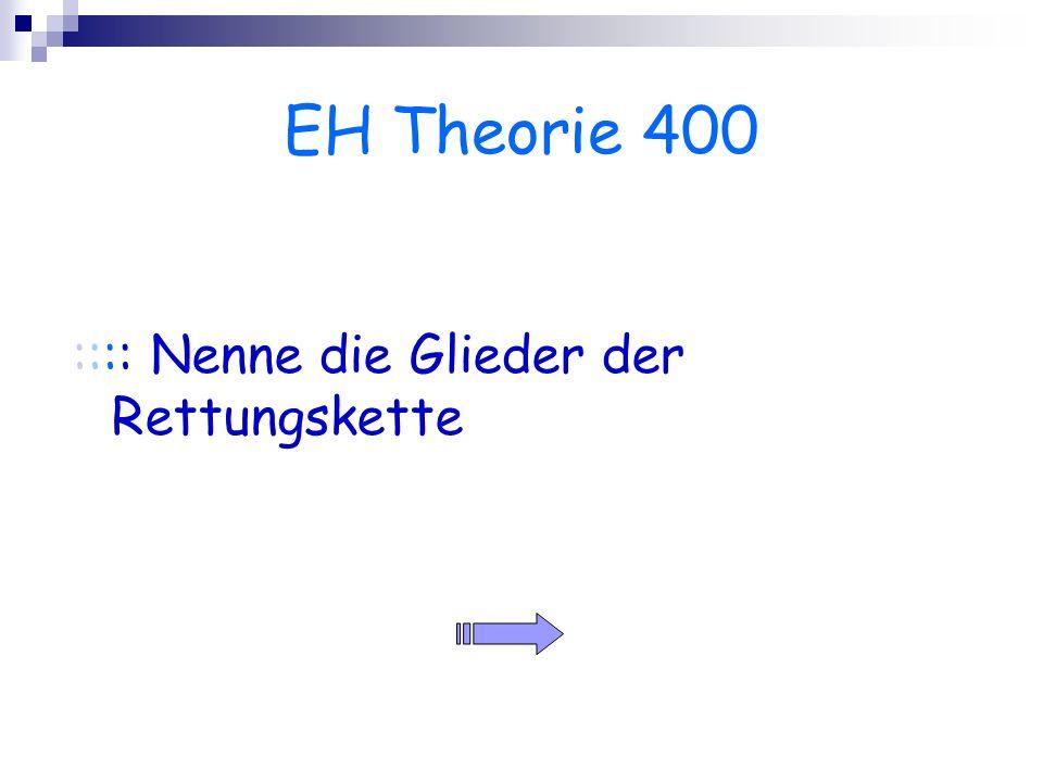 EH Theorie 400 :::: Nenne die Glieder der Rettungskette