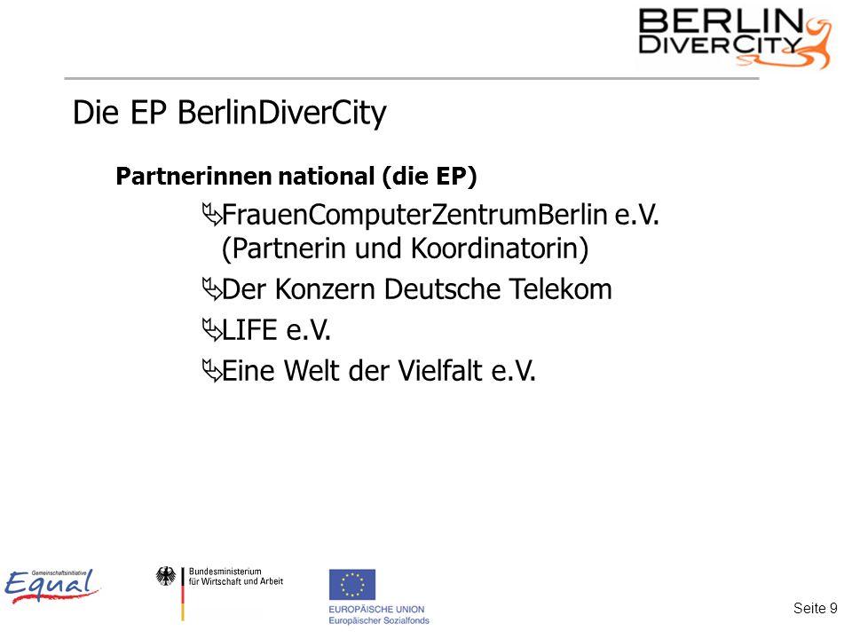 Die EP BerlinDiverCity Partnerinnen national (die EP) FrauenComputerZentrumBerlin e.V.