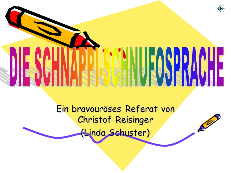 Ein bravouröses Referat von Christof Reisinger (Linda Schuster)