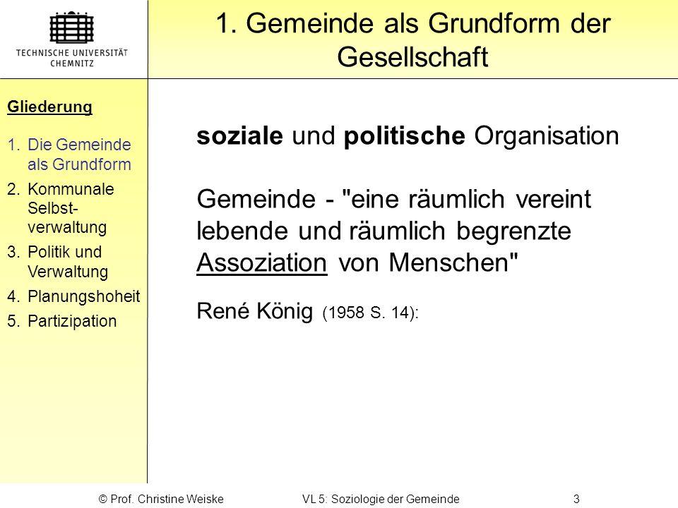 Gliederung 1. Gemeinde als Grundform der Gesellschaft Gliederung 1.Die Gemeinde als Grundform 2.Kommunale Selbst- verwaltung 3.Politik und Verwaltung