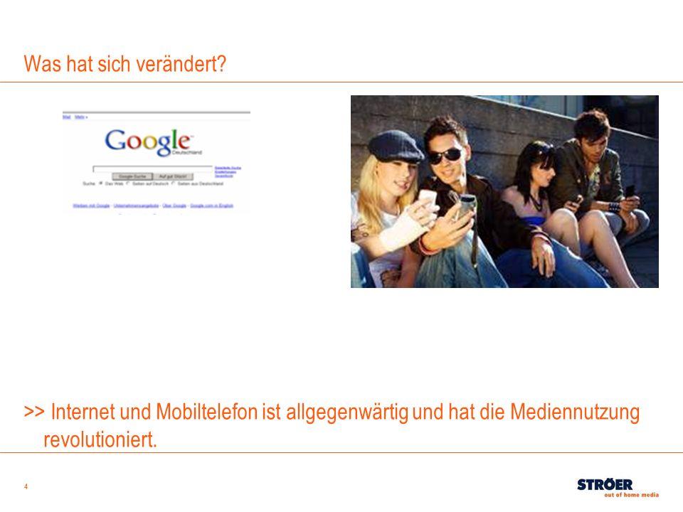 4 Was hat sich verändert? >> Internet und Mobiltelefon ist allgegenwärtig und hat die Mediennutzung revolutioniert.