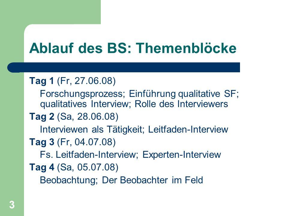 34 Vorbereitung qualitatives Interview Die Organisation: Termin und Ort einhalten: Pünktlichkeit .