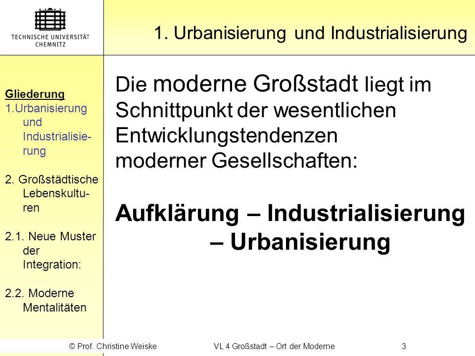 Gliederung 1.Urbanisierung und Industrialisie- rung 2.