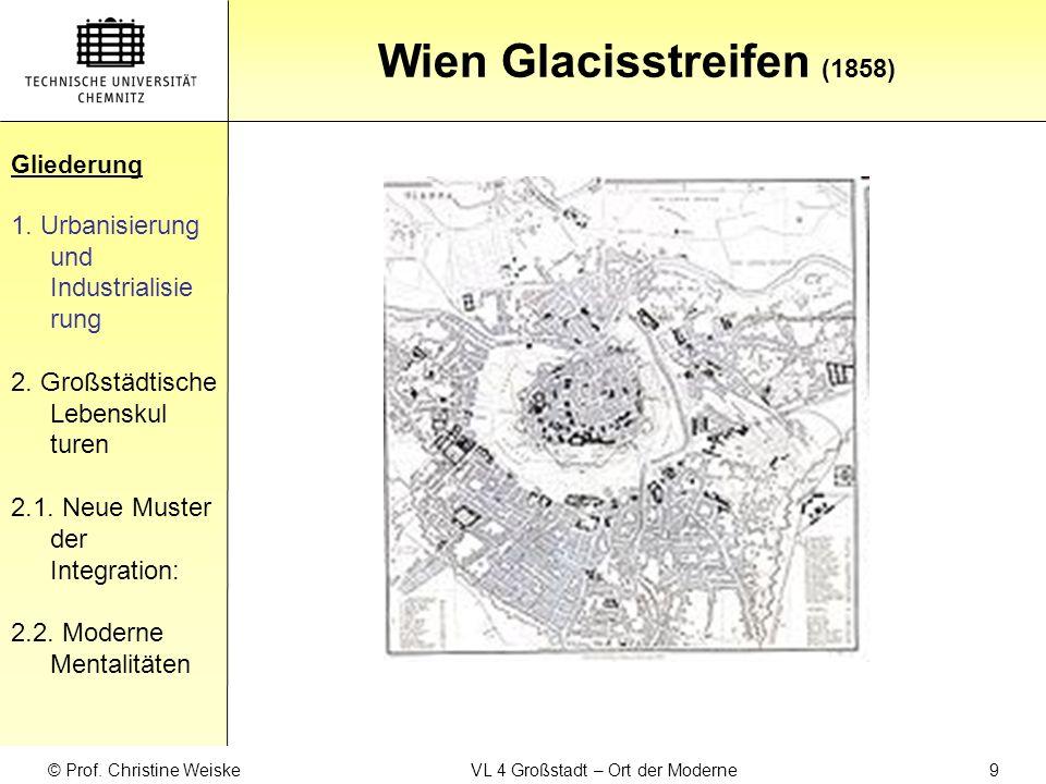 Gliederung Wien Wettbewerbsplan von van der Nüll und Siccardsburg (1858) Gliederung 1.