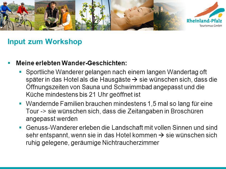 Input zum Workshop Meine erlebten Wander-Geschichten: Sportliche Wanderer gelangen nach einem langen Wandertag oft später in das Hotel als die Hausgäs