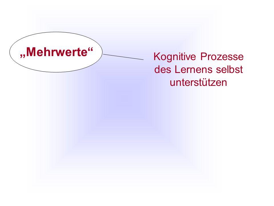 Kognitive Prozesse des Lernens selbst unterstützen Mehrwerte