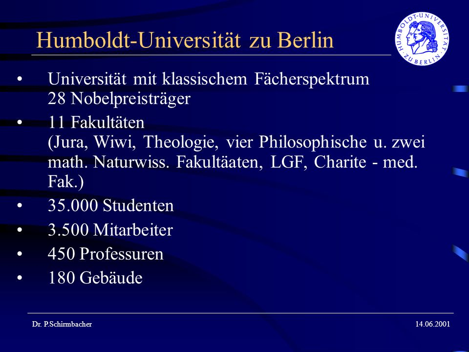 14.06.2001 Informationsinfrastruktur im Wandel Dr.