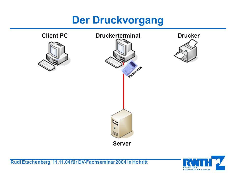 Rudi Etschenberg 11.11.04 für DV-Fachseminar 2004 in Hohritt Druckerwarteschlange