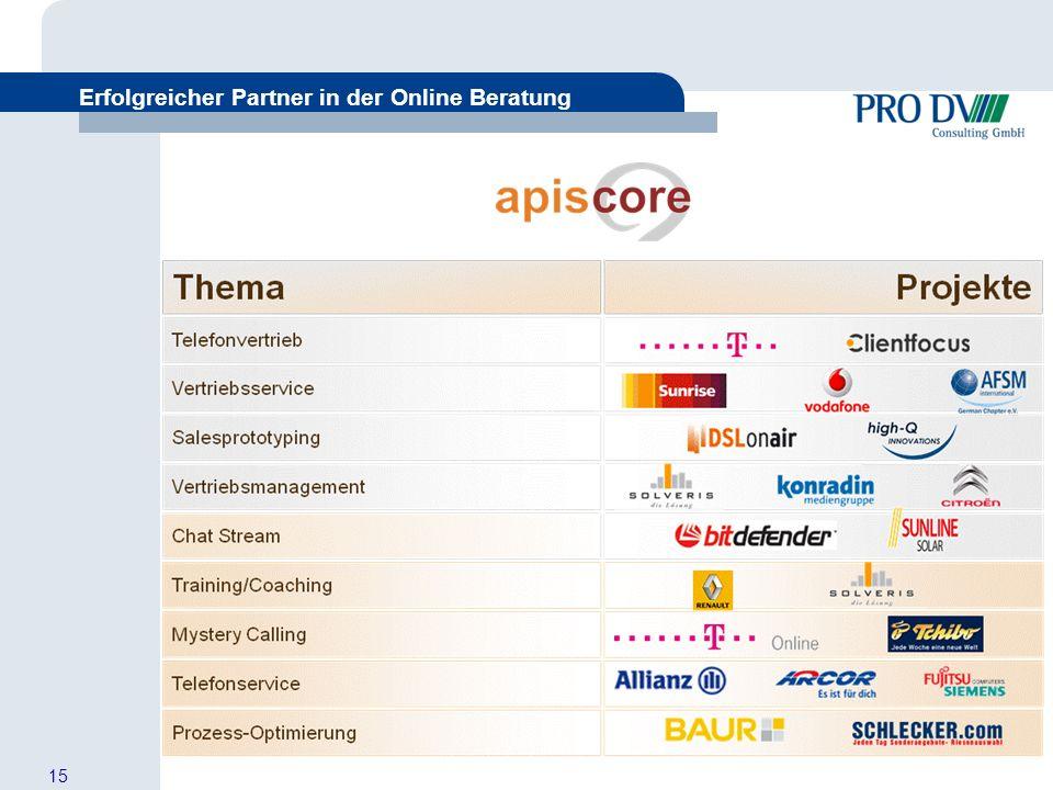 15 Erfolgreicher Partner in der Online Beratung