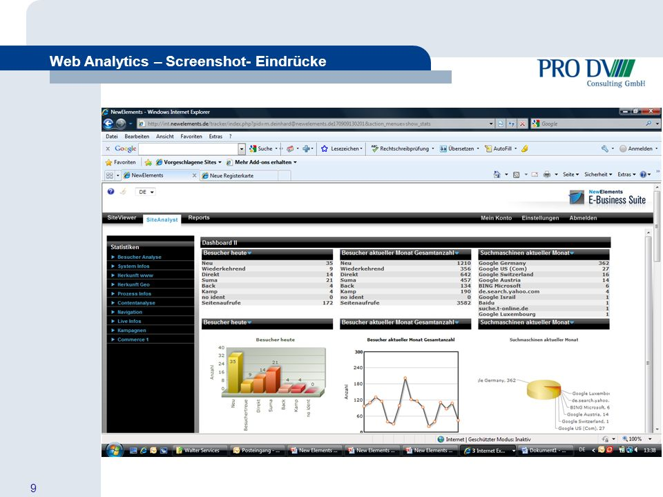10 Web Analytics – Screenshot- Eindrücke Aus Besuchern Kunden machen + Zu welchen Begrifflichkeiten haben die Besucher uns gefunden?