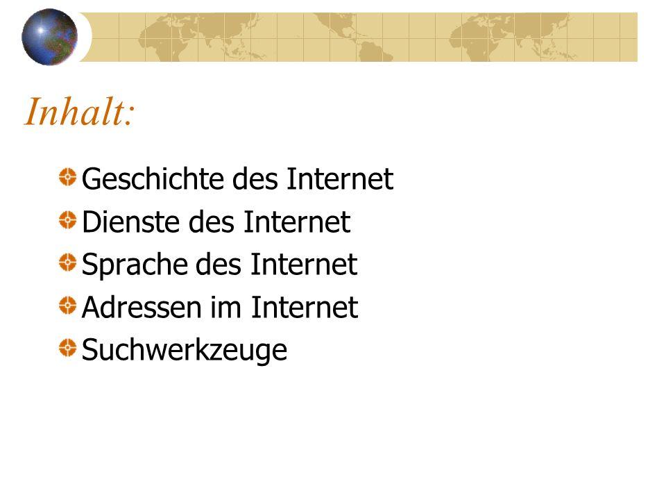 Ein Streifzug durch das INTERNET G. Hege und W. Moritz OSA Stuttgart
