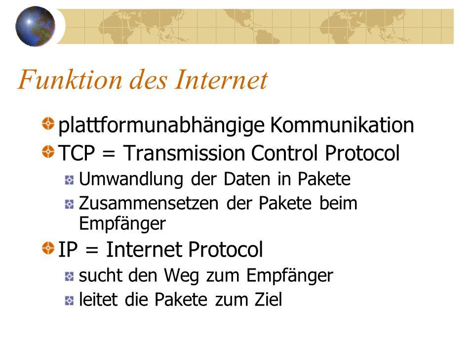 1972 Ergänzung durch wissenschaftliche Netze (USA) 1980 kommerzielle Netze der Computerindustrie kommen dazu (USA) in Deutschland: 1991 WIN (Wissenschaftsnetz) 1994 MAZ (erster kommerzieller Provider)