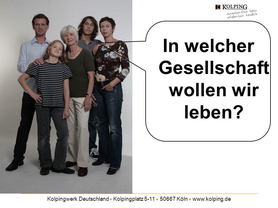 Kolpingwerk Deutschland Kolpingplatz 5-11 50667 Köln www.kolping.de Wir wollens wissen - Mindestlohn - Welches Lohnniveau darf Ihrer Meinung nach nicht unterschritten werden.