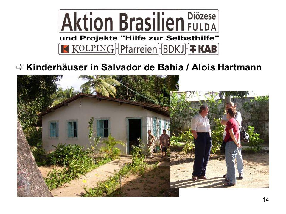 14 Kinderhäuser in Salvador de Bahia / Alois Hartmann
