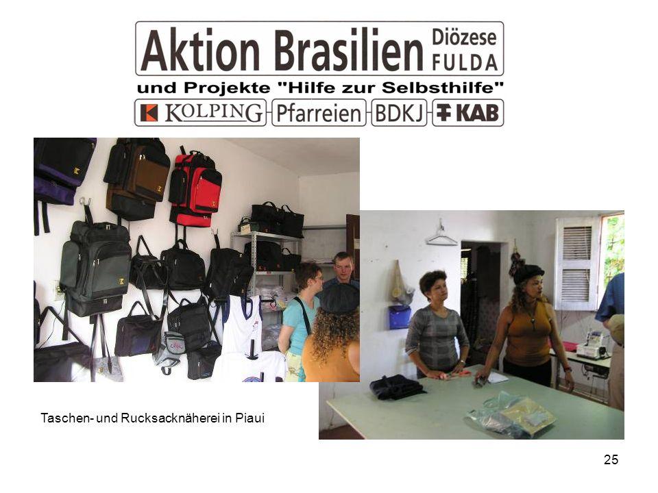 25 Taschen- und Rucksacknäherei in Piaui