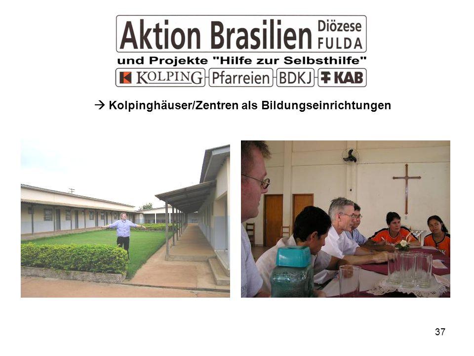 37 Kolpinghäuser/Zentren als Bildungseinrichtungen