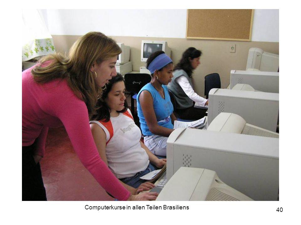 40 Computerkurse in allen Teilen Brasiliens