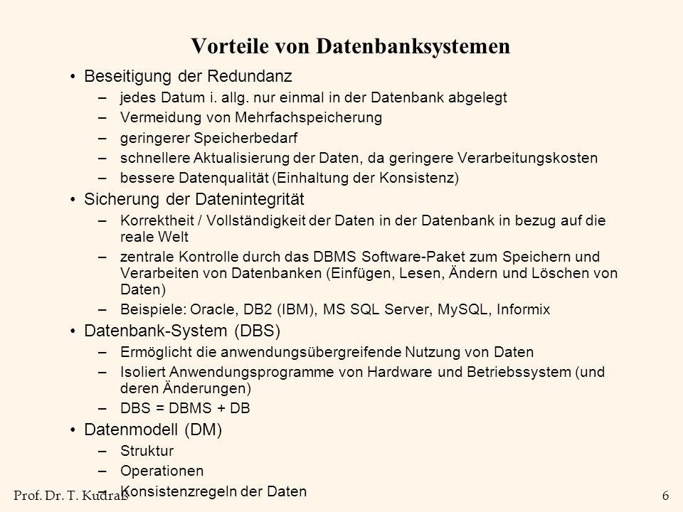 Prof.Dr. T. Kudraß7 Informationssystem vs.