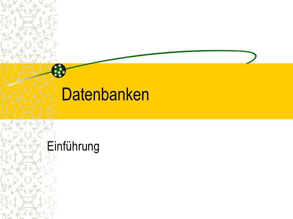 Datenbank- Modelle Def: Ein Datenbank- Modell( engl.