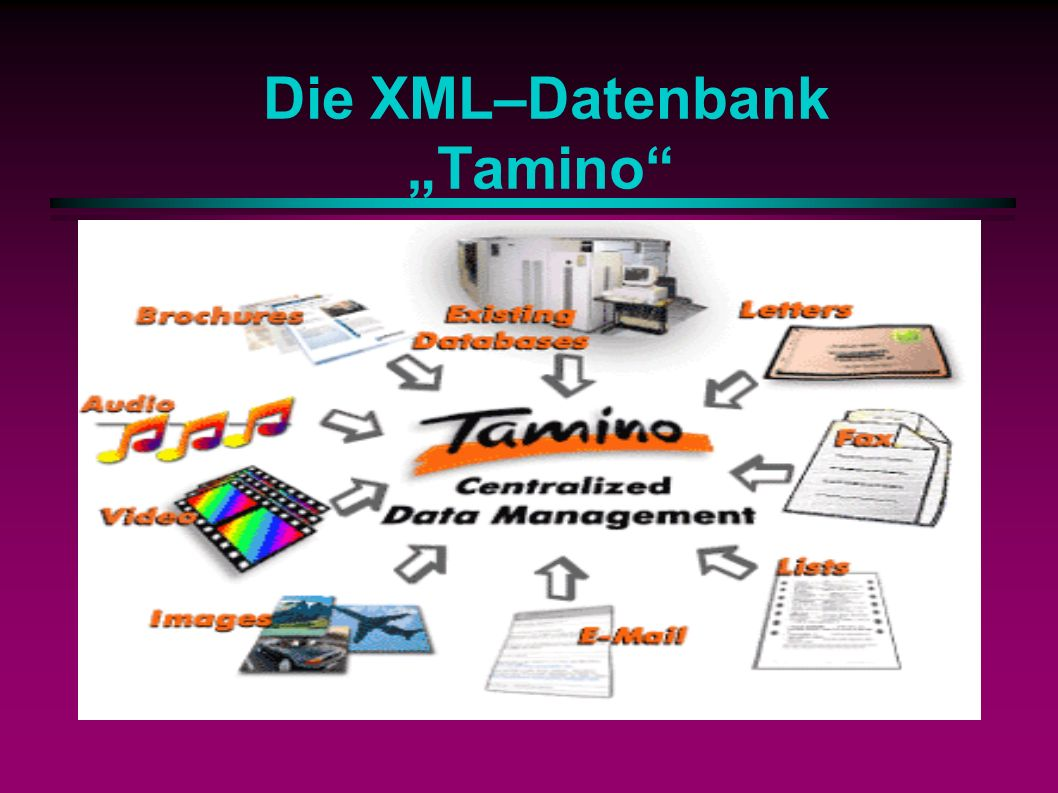 Die XML–Datenbank Tamino