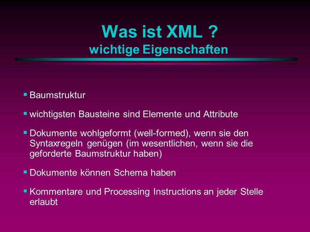 Was ist XML .