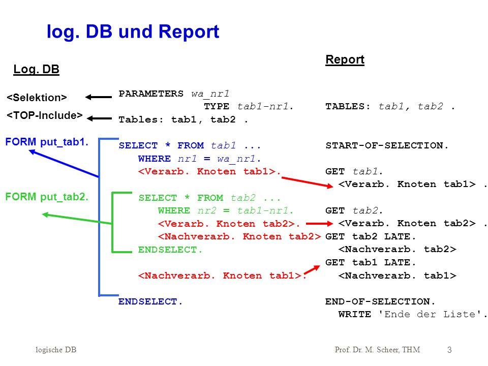 Prof.Dr. M. Scheer, THM Gruppenverarbeitung4 while ( { while ( { } // Ende Schleife 2.