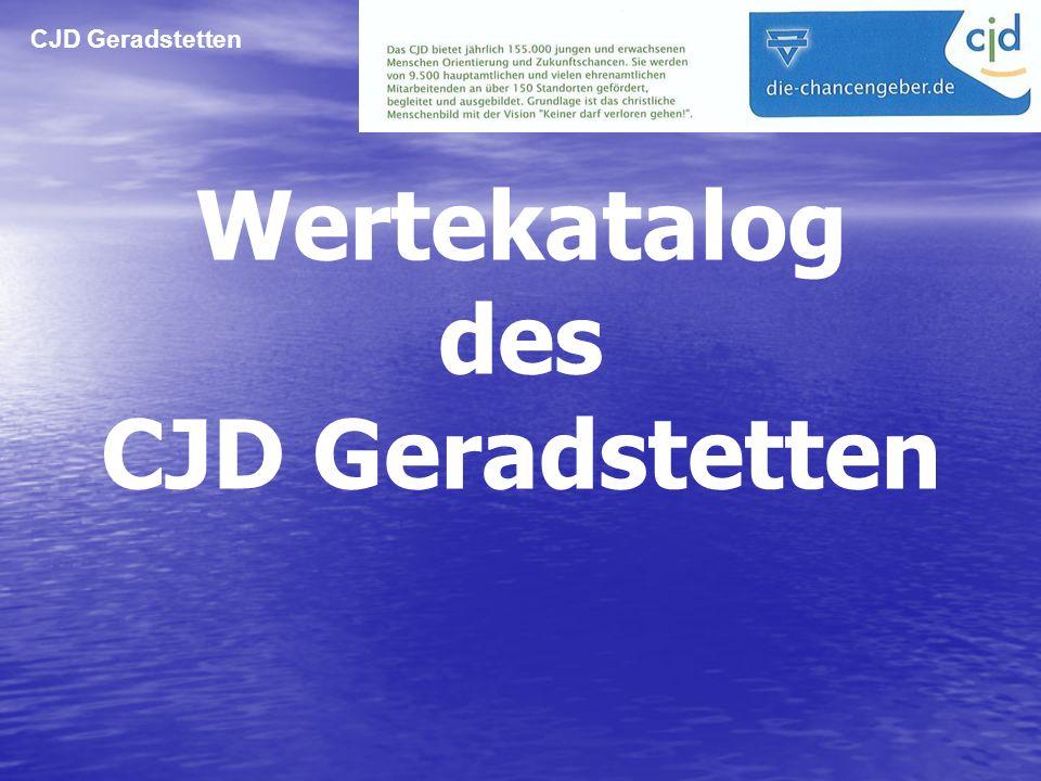 CJD Geradstetten Wertekatalog des CJD Geradstetten