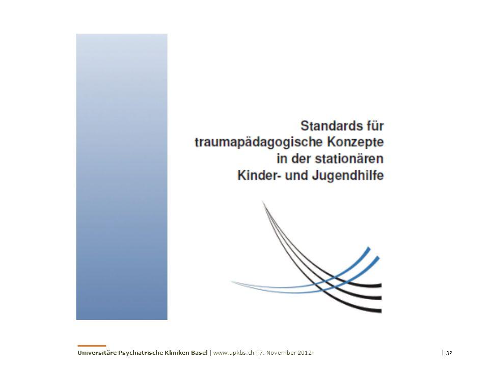 | 327. November 2012Universitäre Psychiatrische Kliniken Basel | www.upkbs.ch |
