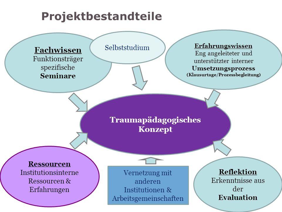 Projektbestandteile Fachwissen Funktionsträger spezifische Seminare Erfahrungswissen Eng angeleiteter und unterstützter interner Umsetzungsprozess (Kl