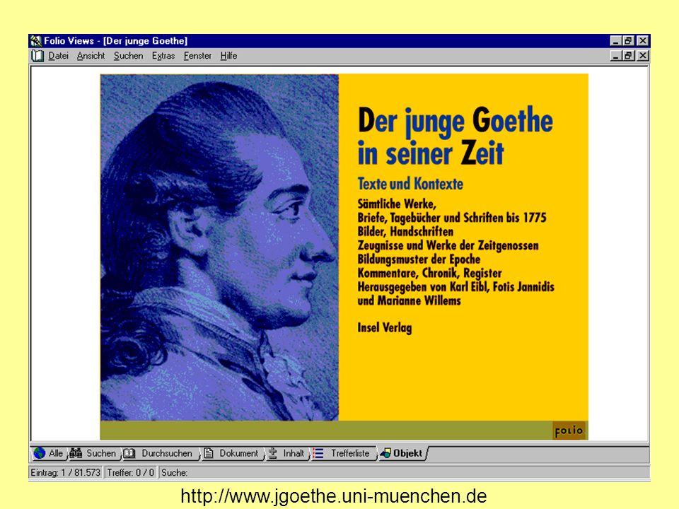 Die neue Ausgabe der Werke des jungen Goethe ist eine Hybrid- Ausgabe, d.