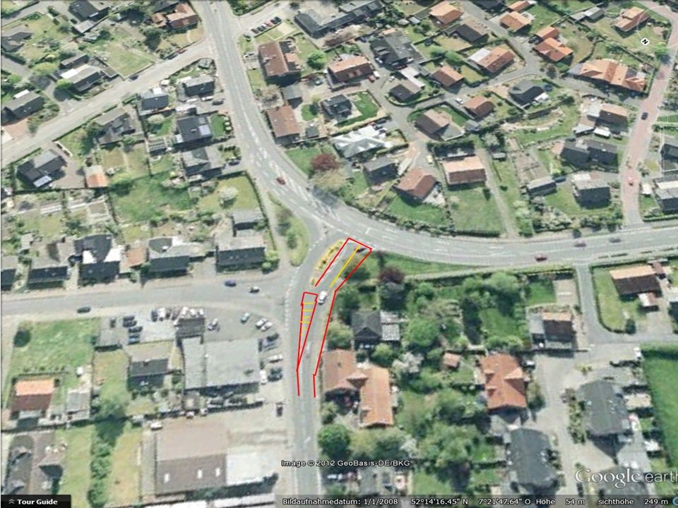 Hinweisschilder Verkehrsleitsystem ergänzen, um auswärtige Besucher zielgenau in den Ortskern zu führen Fußgänger durch den Ortskern leiten Aufwertung der Passagen die zur Fußgängerzone führen