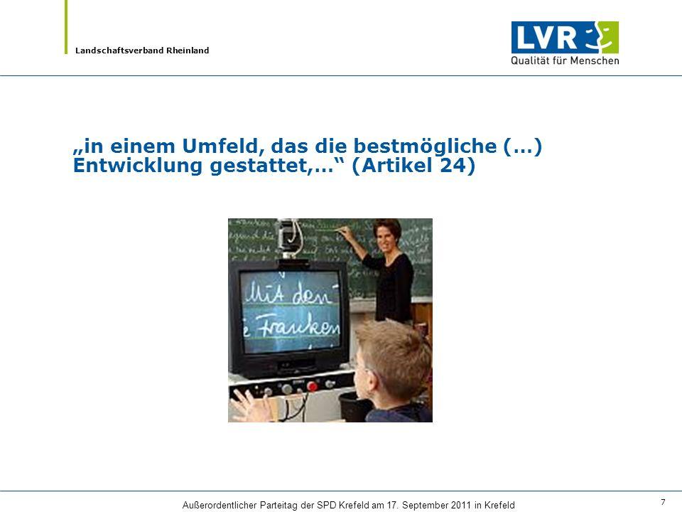 Landschaftsverband Rheinland Außerordentlicher Parteitag der SPD Krefeld am 17. September 2011 in Krefeld 7 in einem Umfeld, das die bestmögliche (…)