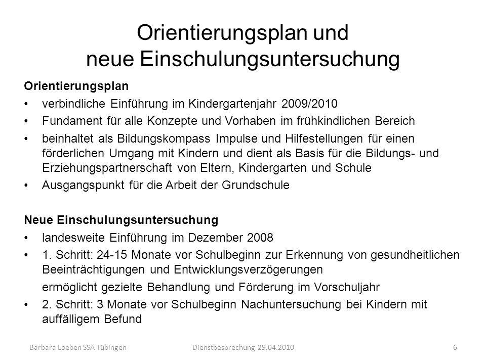 Orientierungsplan und neue Einschulungsuntersuchung Orientierungsplan verbindliche Einführung im Kindergartenjahr 2009/2010 Fundament für alle Konzept
