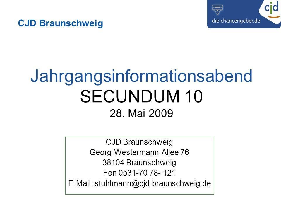 CJD Braunschweig Jahrgangsinformationsabend SECUNDUM 10 28.