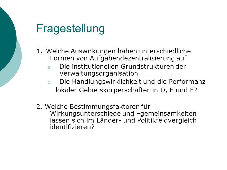 Beispiel Umweltverwaltung Kupierte Kommunalisierung von Aufgaben im Bereich der deutschen Umweltverwaltung (vgl.