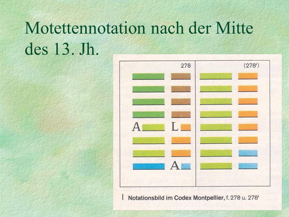 Motettennotation nach der Mitte des 13. Jh.