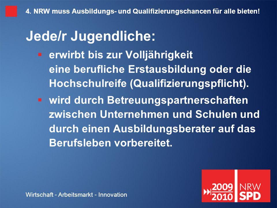 Wirtschaft - Arbeitsmarkt - Innovation 4.