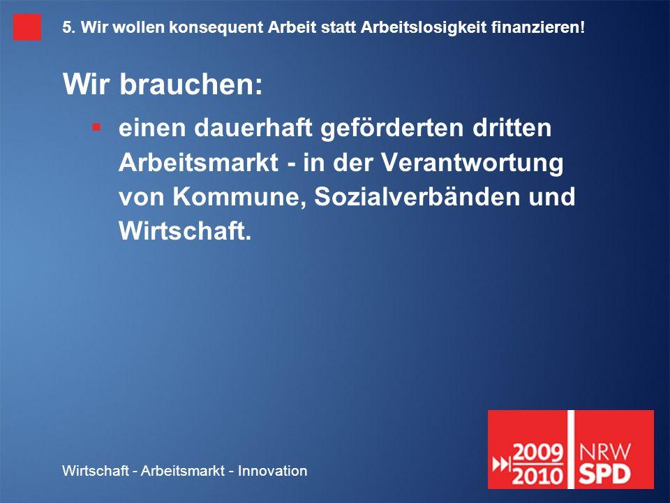 Wirtschaft - Arbeitsmarkt - Innovation 5.