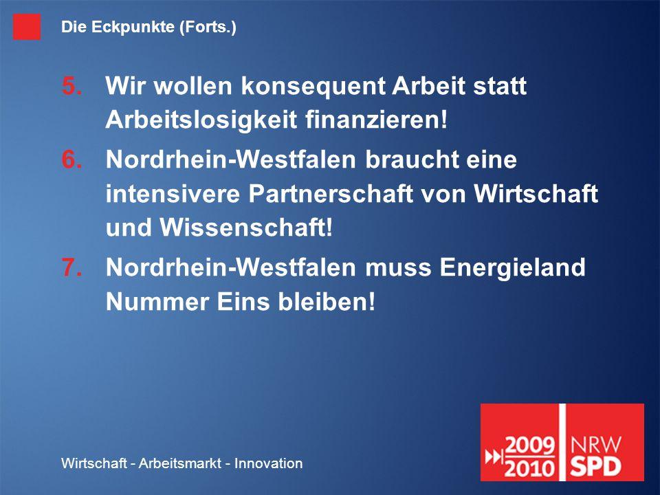 Wirtschaft - Arbeitsmarkt - Innovation 1.